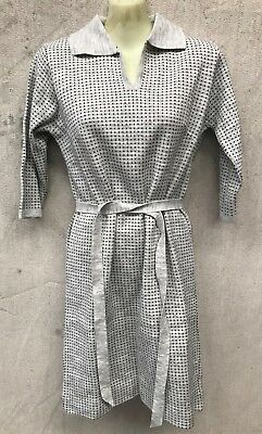 ORIGINAL 1960's N.O.S VINTAGE SUSAN PARSONS GREY WINTER KNITTED DRESS SIZE XSSW