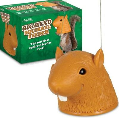 BIG HEAD SQUIRREL bird seed FEEDER by Archie McPhee - new in box - GREAT GIFT