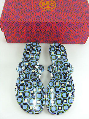 0beb182f7c4c NWB Tory Burch Miller Patent Leather Thong Sandal Light Chambray Size 7-10  AUTH!