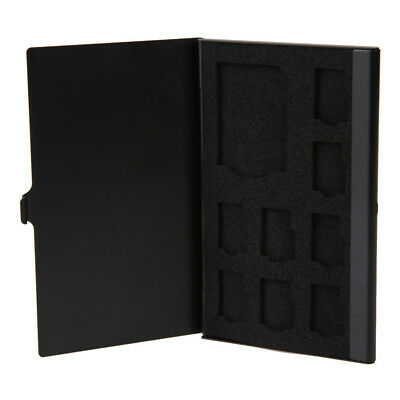 FX- Monolayer Aluminum Alloy 1SD 8TF Cards Micro Memory Case Storage Box Holder