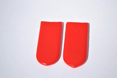 1 PAIR - Red - Rubber Grips for Finger Grip Whistle