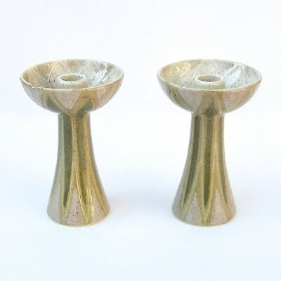 Red Wing Charles Murphy Sgraffito Candle Holders Limited Edition Mid-Century