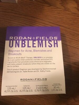 Rodan and Fields: UNBLEMISH REGIMEN FOR ACNE  New in sealed Free shipping