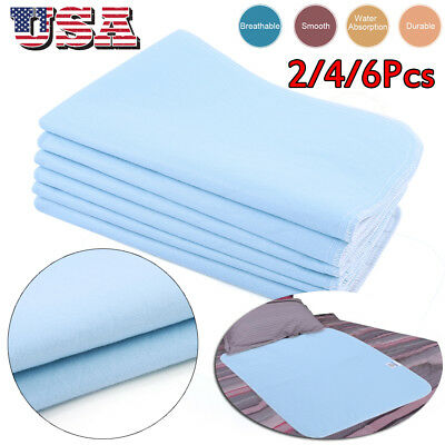 2/4/6Pc 45x60 Washable Bed Pads Underpads Hospital Medical Incontinence Resuable