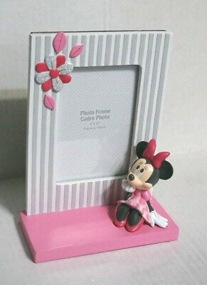 Disney Minnie  Mouse Polka Dots  Baby Photo Picture Frame Hard to find
