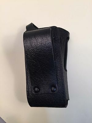 Black Hard Leather Carry Case for Motorola XPR6350 XPR6380 XPR6550 Radio