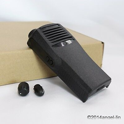 Black Replacement Front Housing Cover Case Kit for Motorola CP200 2Way Radio