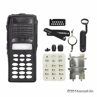 Black New Full-Keypad Housing Cover Case Kit for Motorola HT1250 Radio