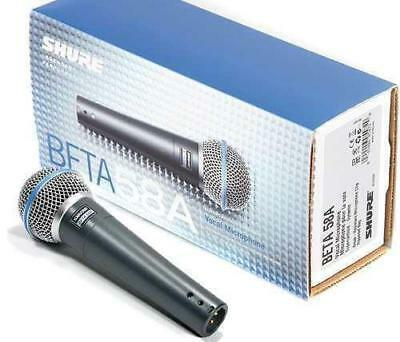 Shure Beta 58A Dynamic Vocal Microphone with Cable instrument recording