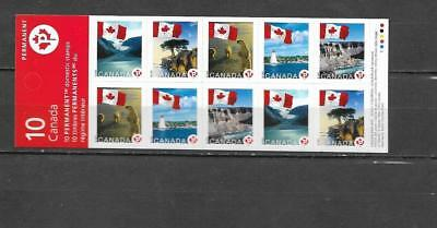 pk35806:Stamps-Canada #BK341 Flags Over 10 x 'P' Rate Booklet Pane - MNH