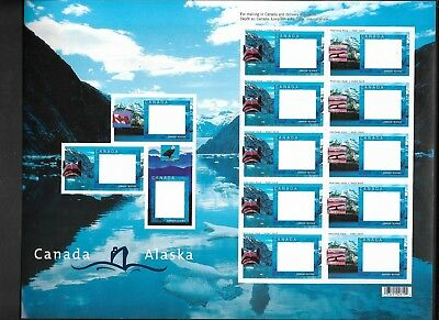 pk35889:Stamps-Canada #1991C-D Canada Alaska Cruise Picture Postage Sheet - MNH