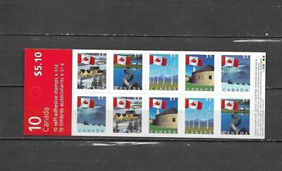 pk35807:Stamps-Canada #BK317a Flags Over 10 x 51 cent Booklet Pane - MNH