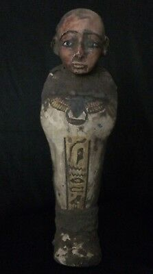 EGYPTIAN USHABTI ANTIQUITIES Statue King Shabti ANCIENT EGYPT Stone 1550-1070 BC