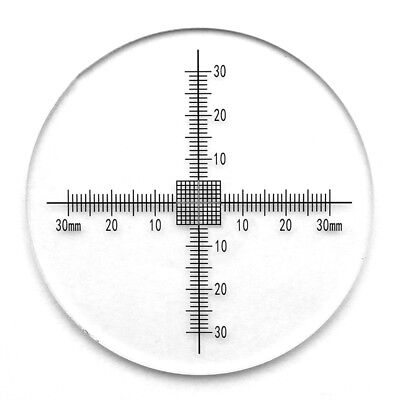 Optical Calibration Target Micrometer Scales Cross Ruler Grid Diameter 80mm