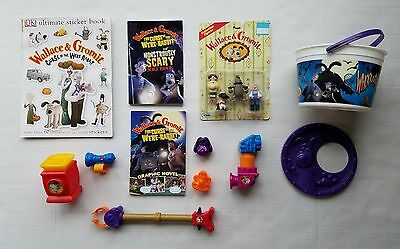 Wallace & Gromit Lot of 12 NIP Figures + Sticker Book + 2 + 8 Burger King Toys