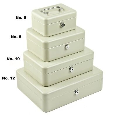 Petty Cash Boxes 10In 250X180  Beige Tin Container