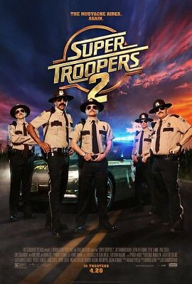 "SUPER TROOPER 2 2018 Original DS 2 Sided 27x40"" US Movie Poster Kevin Hefferman"
