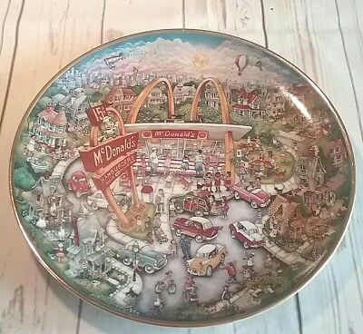 McDonalds Golden Moments Collectible Porcelain Plate By Bill Bell