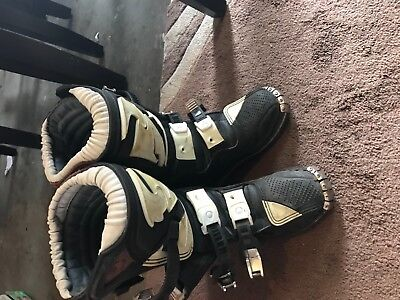 Kids youth toddler Thor MX Motocross Dirt Bike Leather Boots Youth Size 12