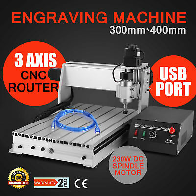 Usb Cnc Router Engraver Engraving Cutter 3 Axis 3040T-Dq Machine Milling Cutting