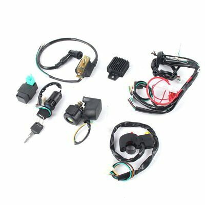 Wiring Harness Loom Solenoid Coil Rectifier CDI 50 70 90 110 125cc ATV Quad FT