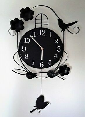 Living Room Wall Clock Wrought Iron Bird Clock Watch Electronic Quartz Clock