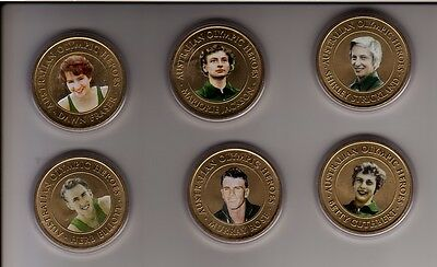 Australian OLYMPIC HEROES Medallion Collection of 6 includes  Betty Cuthbert etc