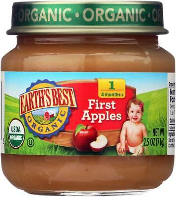 Earth'S Best Organic First Apples Baby Food Stage 1 2.5 Oz. Bulk Pk Lot