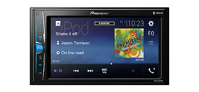 """PIONEER MVH-A200vbt 6.2 """" Touchscreen Bluetooth Stereo mit USB AUX"""