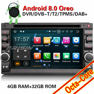Double Din Nissan/Universal Android 8.0 Car Stereo GPS WiFi DAB+DVR OBD2 CD TPMS