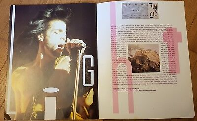 Prince Concert Programmes from 1990 & 1992 UK Tours