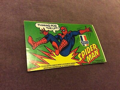 Vintage Sticker - Pauls - Spider-Man - 1979