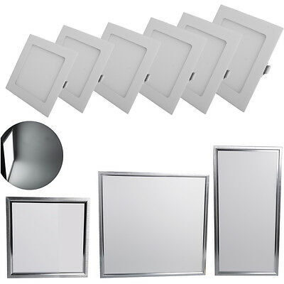 10/1x 3W- 48W Square LED Recessed Ceiling Panel Light Downlight Kitchen Bathroom