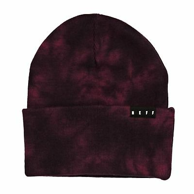 2bfa4c015ce Neff Lawrence Washed Mens Headwear Beanie Hat - Maroon One Size