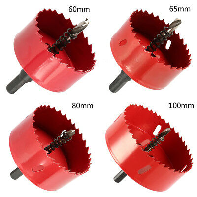 60-120mm BI M42 Metal Hole Saw Holesaw Cutter Cut Arbor Pilot Drill Bit Set Wood