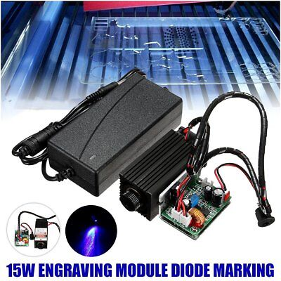 15W 450nm Laser Head Engraving Module Diode Marking Wood Cutting TTL