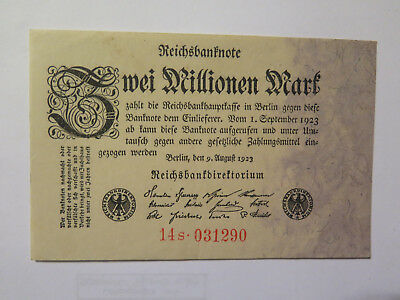 German Reichsbanknote Bank Note 3 Million Mark Excellent Crisp Condition 1923
