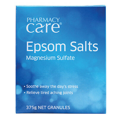 NEW Pharmacy Care Epsom Salts 375g