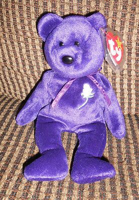Lot of (2) Ty Beanie Babies Princess Valentina Tag Error Mint with tags