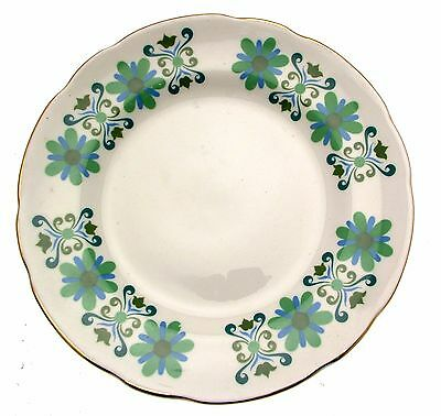 c1960 Sutherland Hudson Green Floral 6.25 Inch Plate