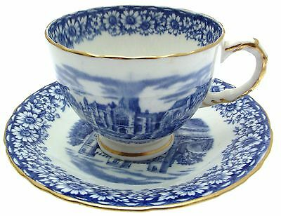 William Hudson Sutherland Historical Britain Blue 2.25 Inch Coffee Cup & Saucer
