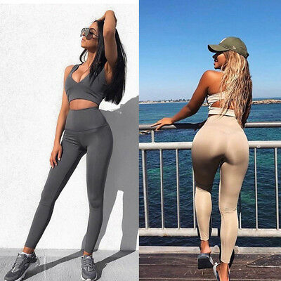 2pcs women yoga set running train bra&pant gym workout fitness tights Sport Wear