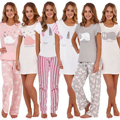 Loungeable Womens Novelty Animal Nightwear Ladies Pyjama Sets Or Nightshirts