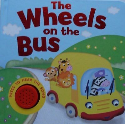 The Wheels on the Bus Fun Learning Single Sound Books, For Kids Age 0 Month+,New