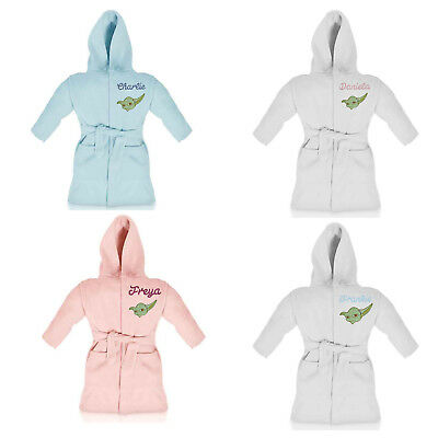 STAR WARS YODA personalised dressing gown/bathrobe embroidered with name
