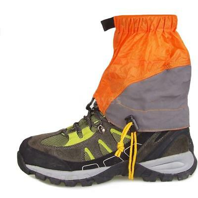 Outdoor Silicon Coated Nylon Waterproof Ultralight Gaiters Leg Protection Q1B6