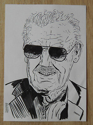 STAN LEE - Original Art Commission by PHIL DINERO (Marvel)