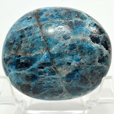 52mm Blue Apatite Cabochon Pebble Natural Crystal Polished Mineral - Madagascar