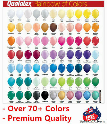 "70+ Colours 12Cm/5"" Mini Latex Balloons Pk10 Birthday Party Wedding Baby Shower"