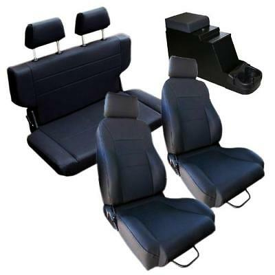 Super 1966 1977 Early Ford Bronco Black Front Rear Seat Kit Uwap Interior Chair Design Uwaporg